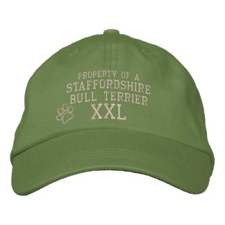 Property of a Staffordshire Bull Terrier Embroidered Hats