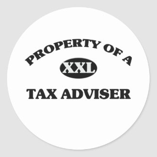 Property of a TAX ADVISER Stickers