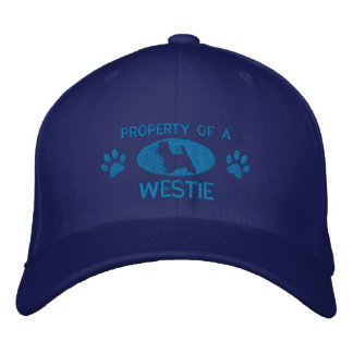 Property of a Westie Embroidered Hat (Blue)