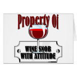 Property Of A Wine Snob Greeting Card
