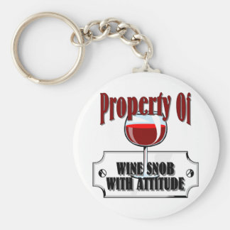 Property Of A Wine Snob Basic Round Button Keychain