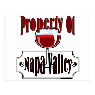 Property Of A Wine Snob Post Card