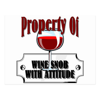 Property Of A Wine Snob Postcard