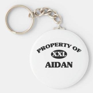 Property of AIDAN Basic Round Button Keychain