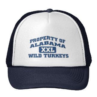 Property of Alabama XXl Wild Turkeys Mesh Hats