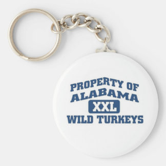 Property of Alabama XXl Wild Turkeys Key Chain