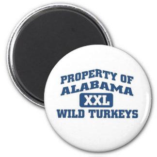Property of Alabama XXl Wild Turkeys Fridge Magnet