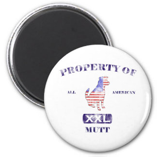 Property of All American Mutt Refrigerator Magnet