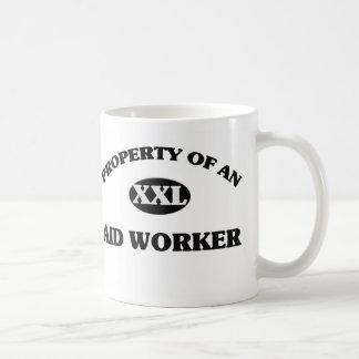 Property of an AID WORKER Classic White Coffee Mug
