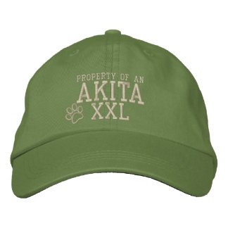 Property of an Akita Embroidered Hat