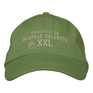 Property of an Alaskan Malamute Embroidered Hat