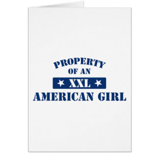 Property Of An American Girl Card