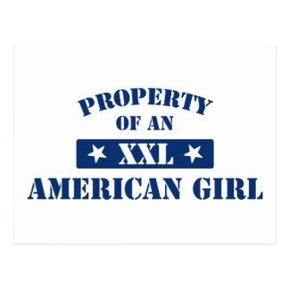 Property Of An American Girl Postcard