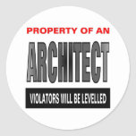 Property Of An Architect Classic Round Sticker