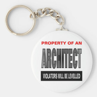 Property Of An Architect Keychain