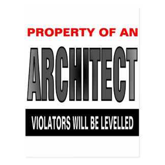 Property Of An Architect Postcard