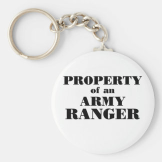 Property of an Army Ranger Basic Round Button Keychain
