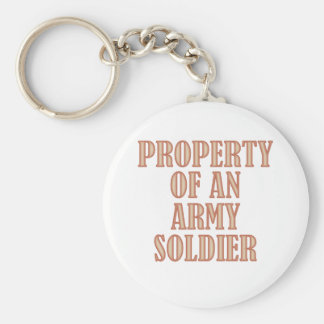 Property of an Army Soldier Basic Round Button Keychain
