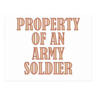 Property of an Army Soldier Postcard