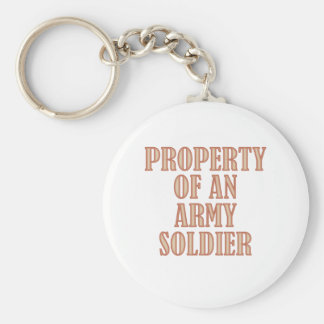 Property of an Army Soldier (tan) Basic Round Button Keychain