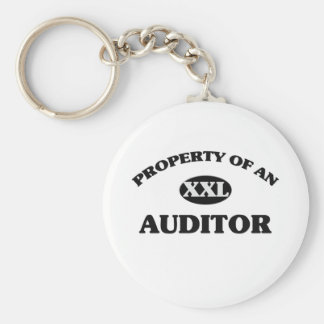 Property of an AUDITOR Basic Round Button Keychain