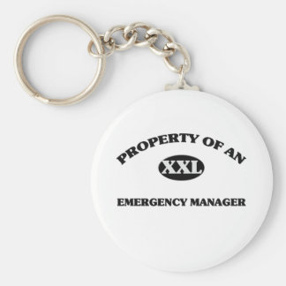 Property of an EMERGENCY MANAGER Key Chains