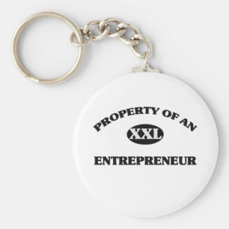 Property of an ENTREPRENEUR Basic Round Button Keychain