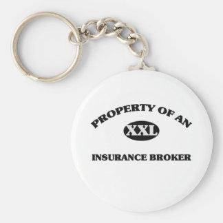 Property of an INSURANCE BROKER Keychain
