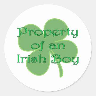 Property of an Irish Boy Classic Round Sticker