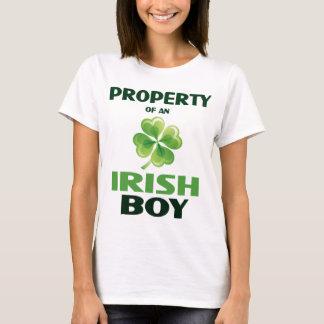 Property Of An Irish Boy Ladies Baby Dol T-Shirt