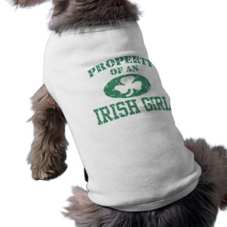 Property of an Irish Girl Dog T-shirt
