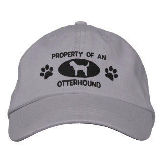 Property of an Otterhound Embroidered Hat