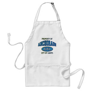 PROPERTY OF ANCHORAGE CITY OF LIGHTS ADULT APRON