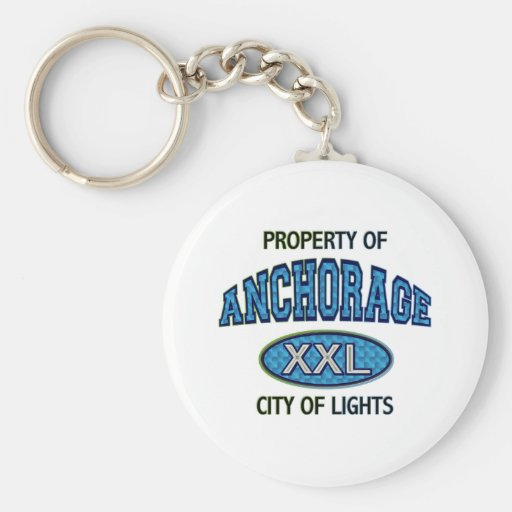 PROPERTY OF ANCHORAGE CITY OF LIGHTS KEYCHAINS
