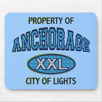 PROPERTY OF ANCHORAGE CITY OF LIGHTS MOUSE PAD