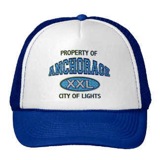 PROPERTY OF ANCHORAGE CITY OF LIGHTS TRUCKER HAT