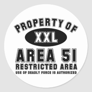 Property of Area 51 Classic Round Sticker