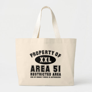 Property of Area 51 Large Tote Bag