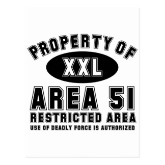Property of Area 51 Postcard