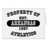 Property of Arkansas shirts Cards