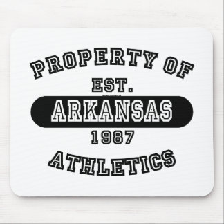 Property of Arkansas shirts Mousepad