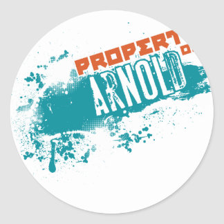 Property of Arnold Classic Round Sticker