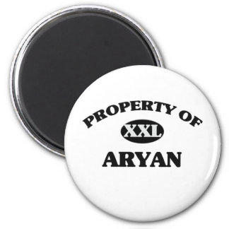 Property of ARYAN 2 Inch Round Magnet