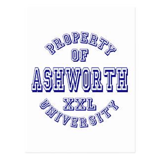 Property of Ashworth University Postcard
