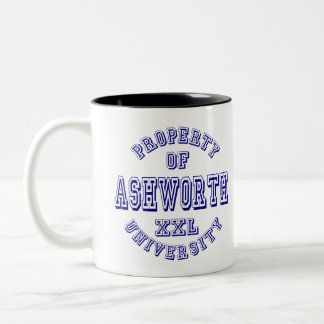 Property of Ashworth University Two-Tone Coffee Mug