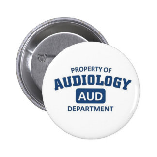 Property of Audiology Department Buttons