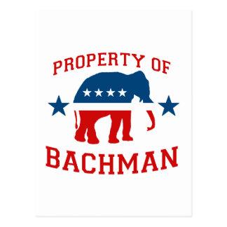 PROPERTY OF BACHMAN POSTCARD