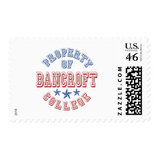 Property Of Bancroft College Postage Stamps