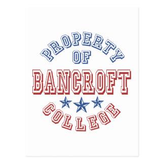 Property Of Bancroft College Postcard