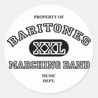 Property of Baritones Classic Round Sticker